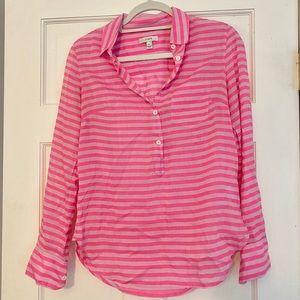 J. Crew Pink Striped Tunic